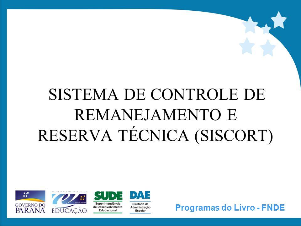 SISTEMA DE CONTROLE DE REMANEJAMENTO E RESERVA TÉCNICA (SISCORT)