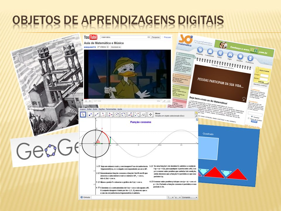 Objetos de aprendizagens digitais