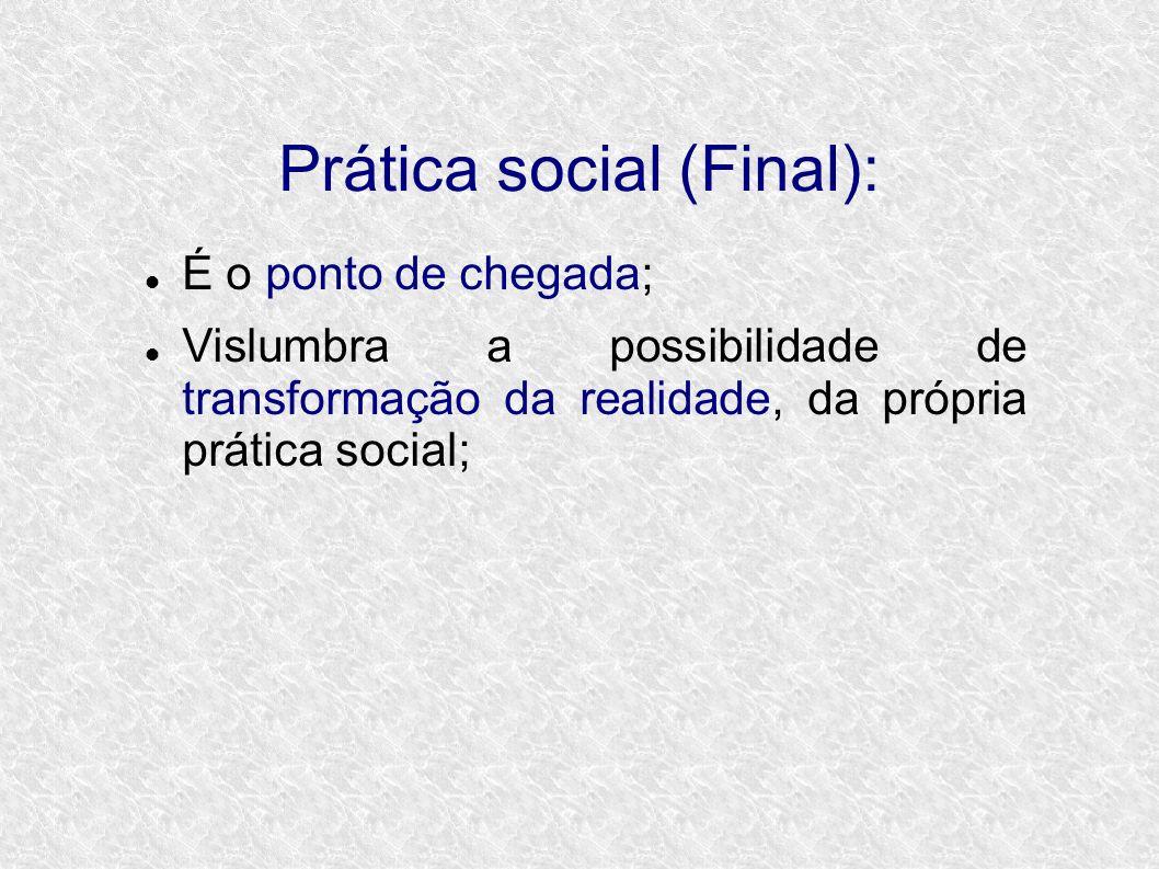 Prática social (Final):