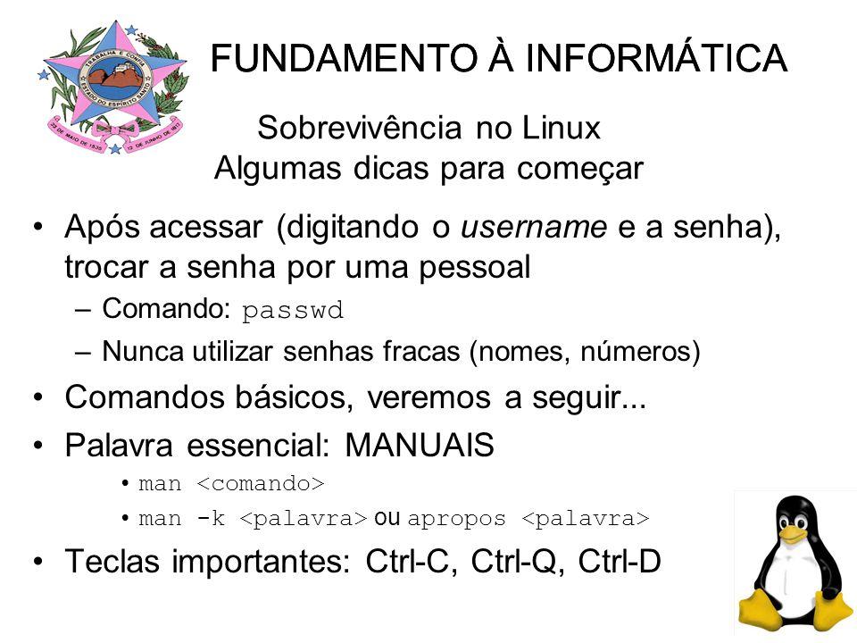 Sobrevivência no Linux Algumas dicas para começar