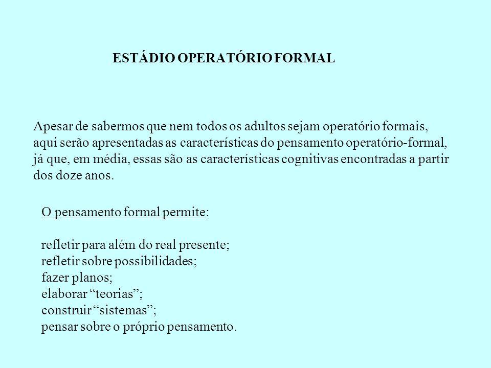 ESTÁDIO OPERATÓRIO FORMAL