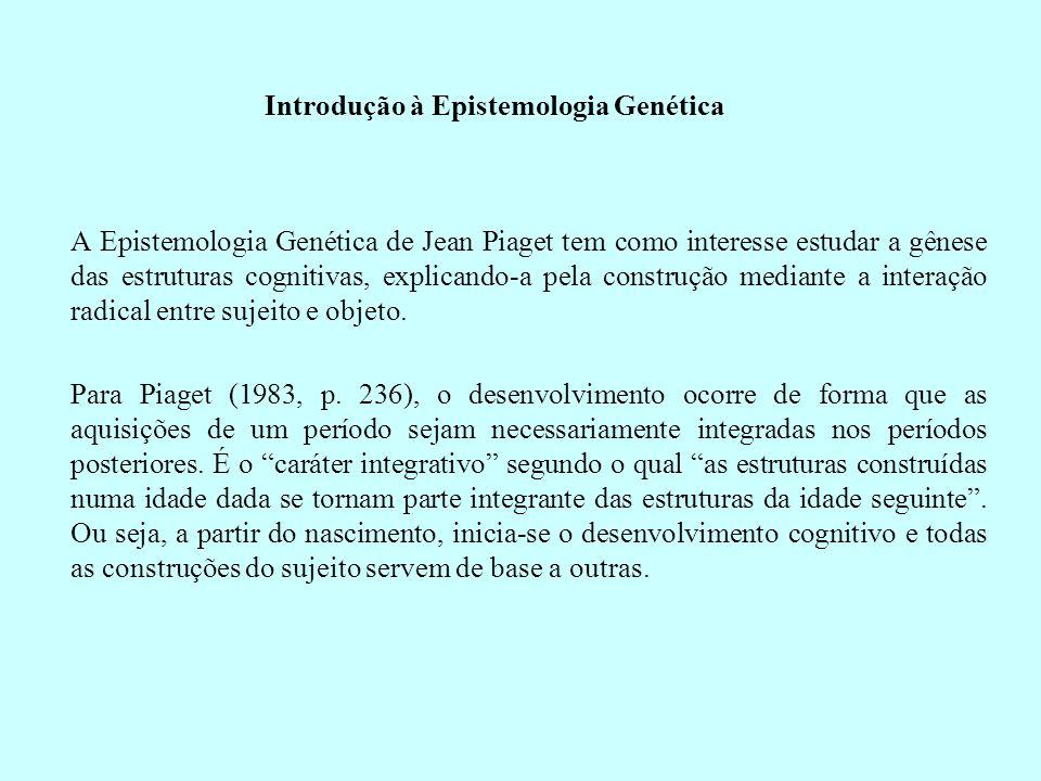 Introdução à Epistemologia Genética