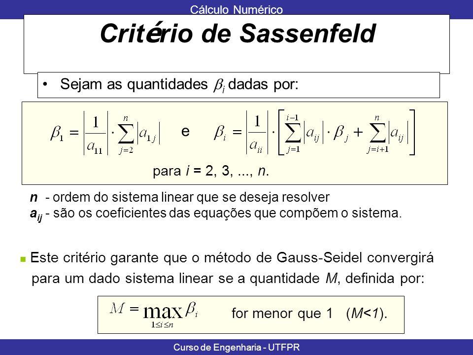 Critério de Sassenfeld