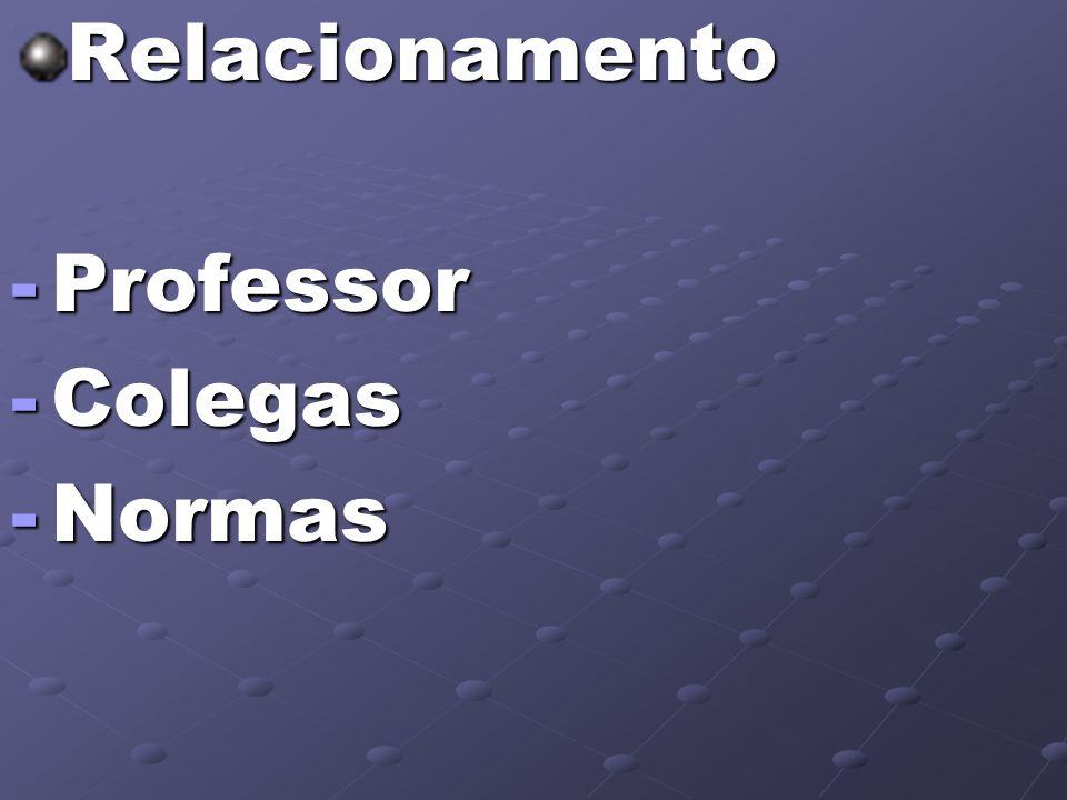 Relacionamento Professor Colegas Normas