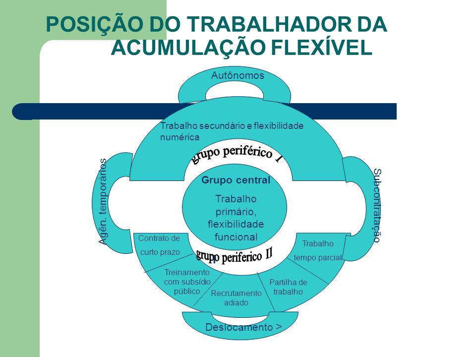 POSIÇÃO DO TRABALHADOR DA ACUMULAÇÃO FLEXÍVEL