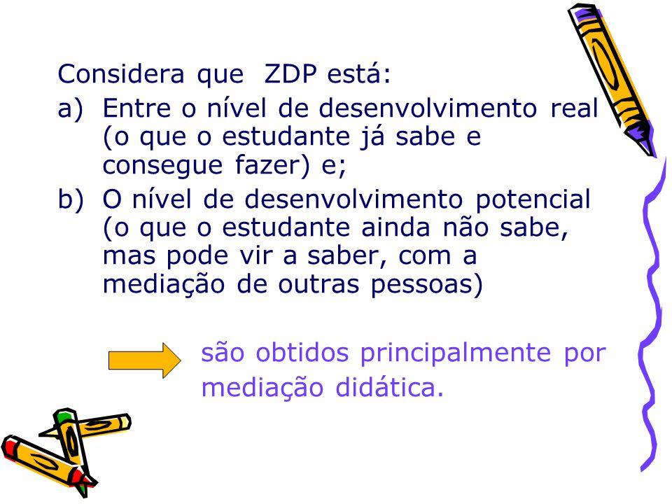 Considera que ZDP está: