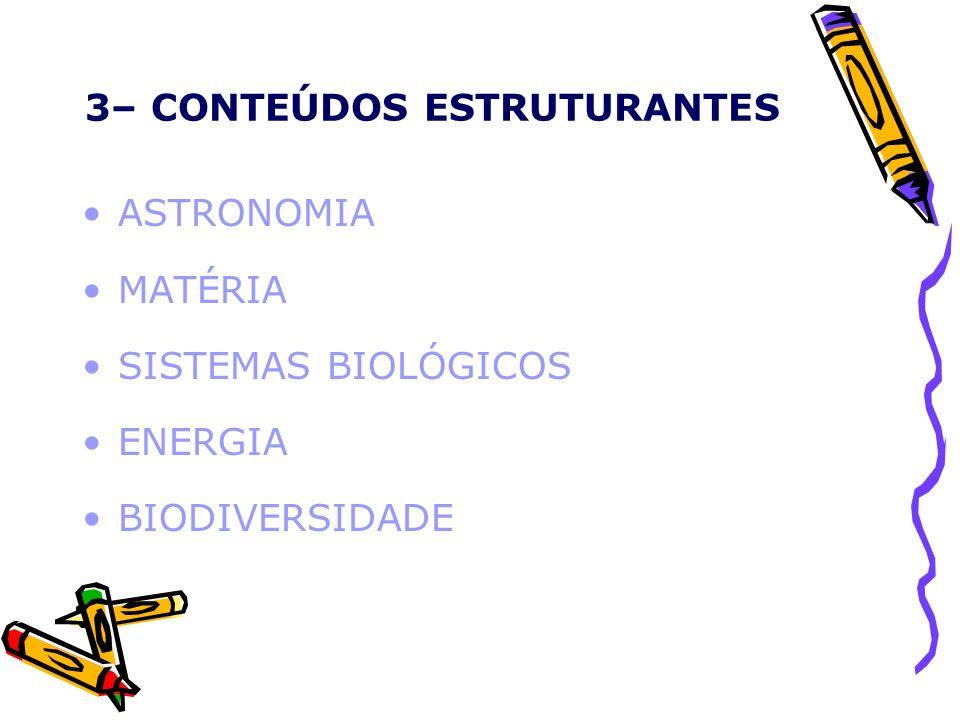 3– CONTEÚDOS ESTRUTURANTES