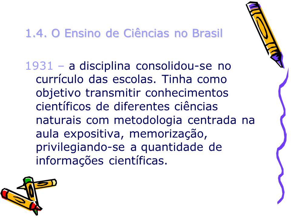 1.4. O Ensino de Ciências no Brasil