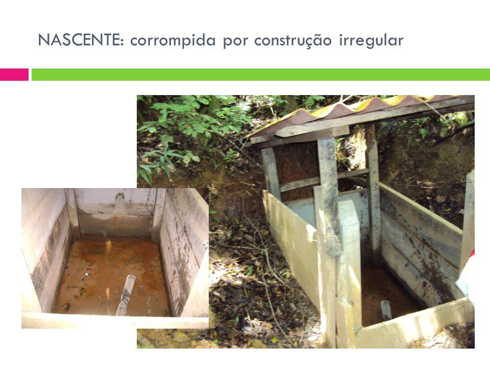 NASCENTE: corrompida por construção irregular