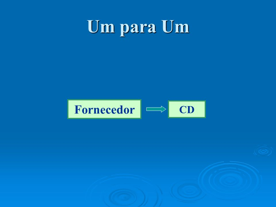 Um para Um Fornecedor CD