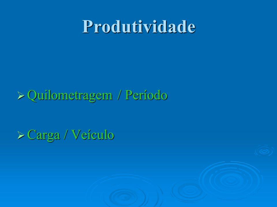 Produtividade Quilometragem / Período Carga / Veículo