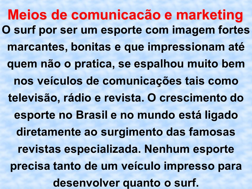 Meios de comunicacão e marketing