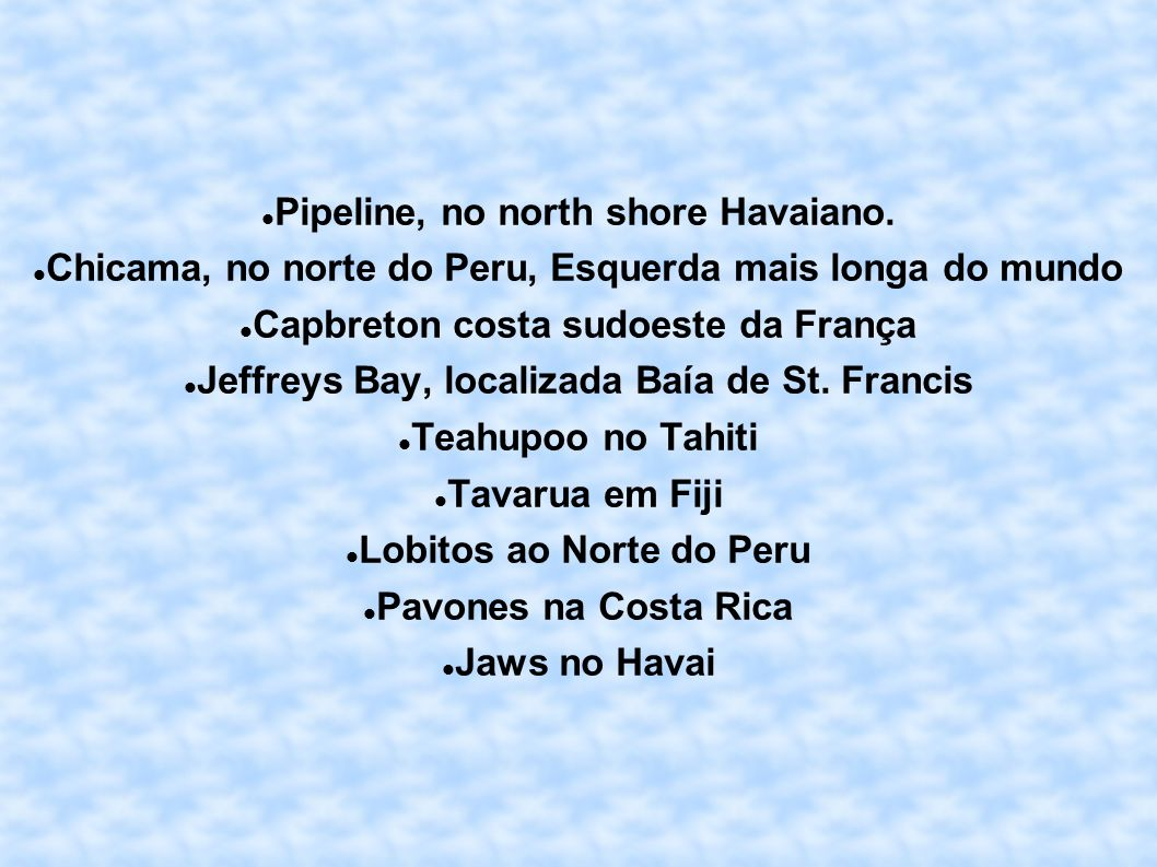 Pipeline, no north shore Havaiano.