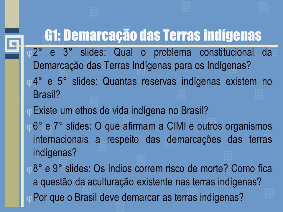 G1: Demarcação das Terras indígenas