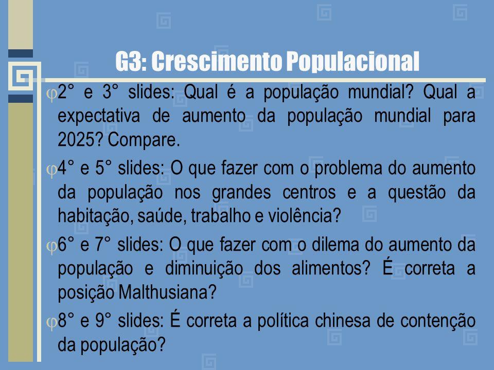 G3: Crescimento Populacional