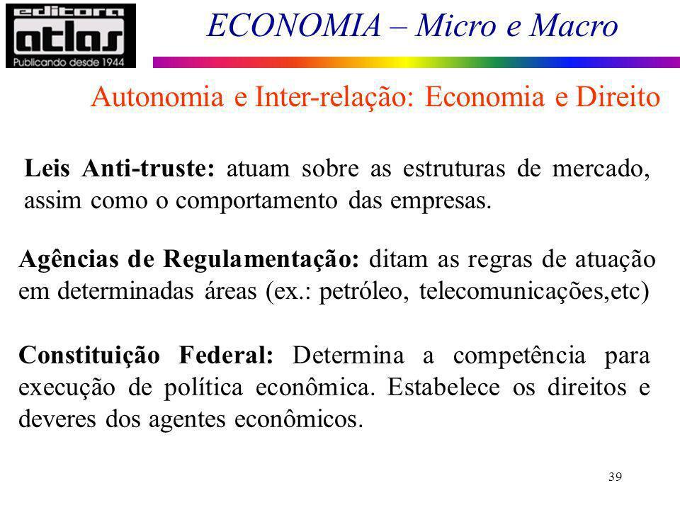 Autonomia e Inter-relação: Economia e Direito