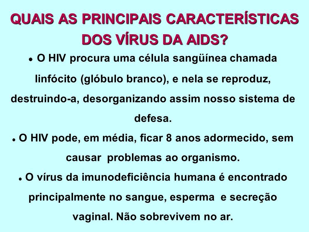 QUAIS AS PRINCIPAIS CARACTERÍSTICAS DOS VÍRUS DA AIDS