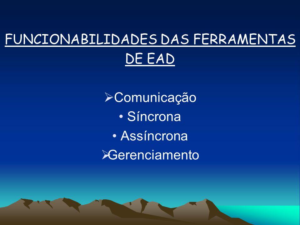 FUNCIONABILIDADES DAS FERRAMENTAS