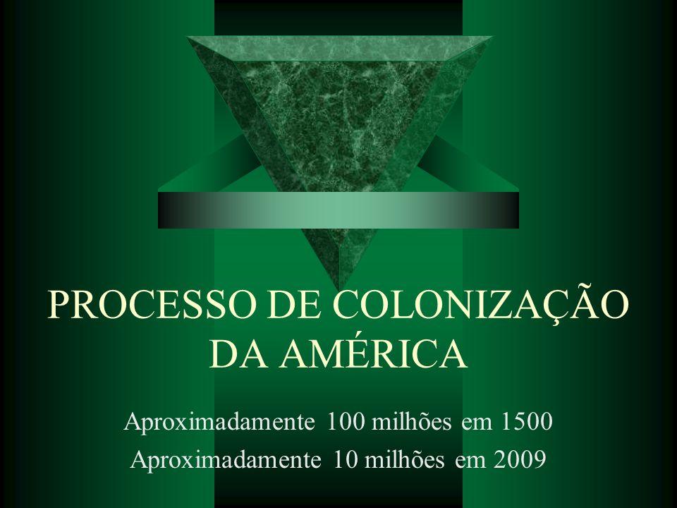 PROCESSO DE COLONIZAÇÃO DA AMÉRICA