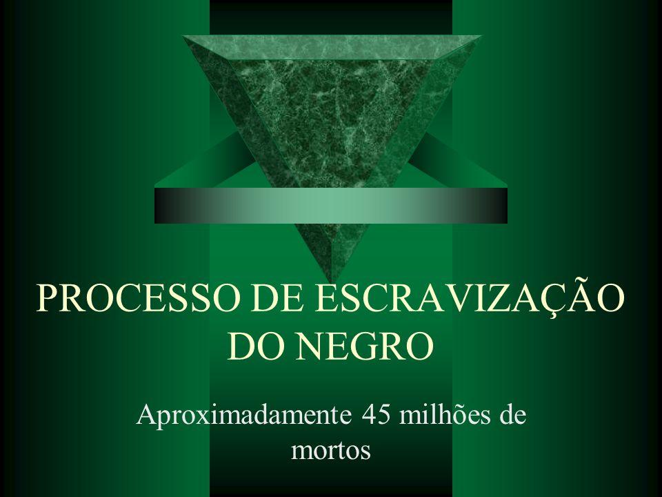 PROCESSO DE ESCRAVIZAÇÃO DO NEGRO