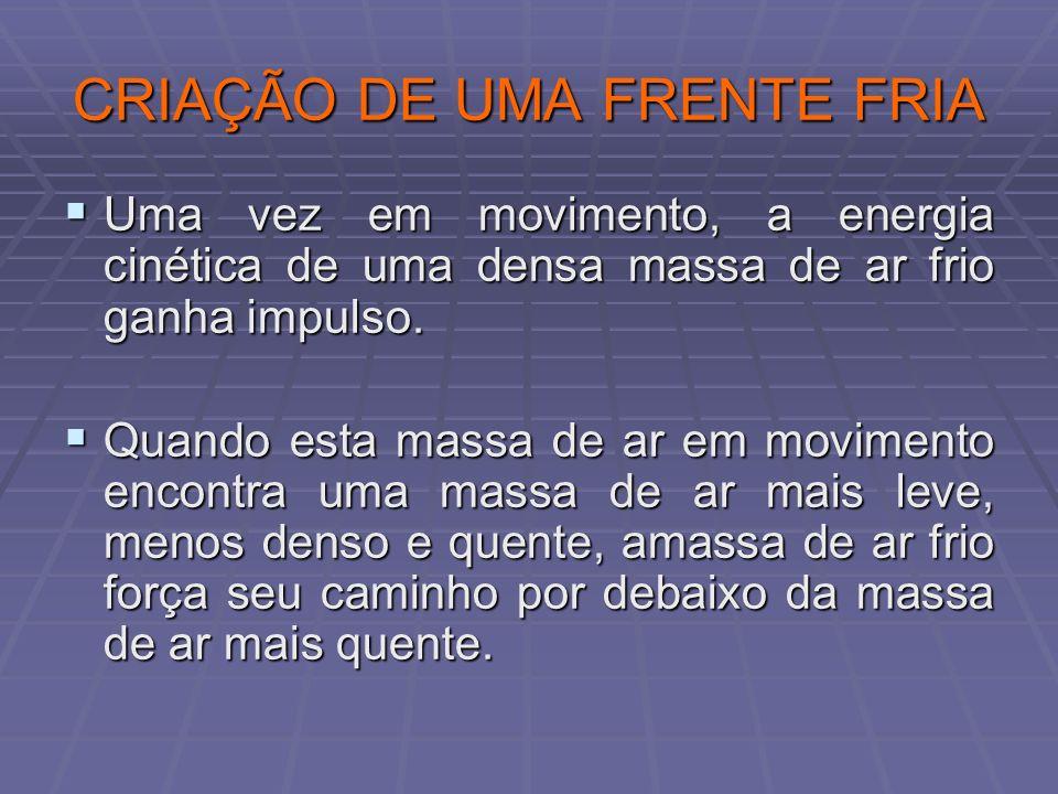 CRIAÇÃO DE UMA FRENTE FRIA