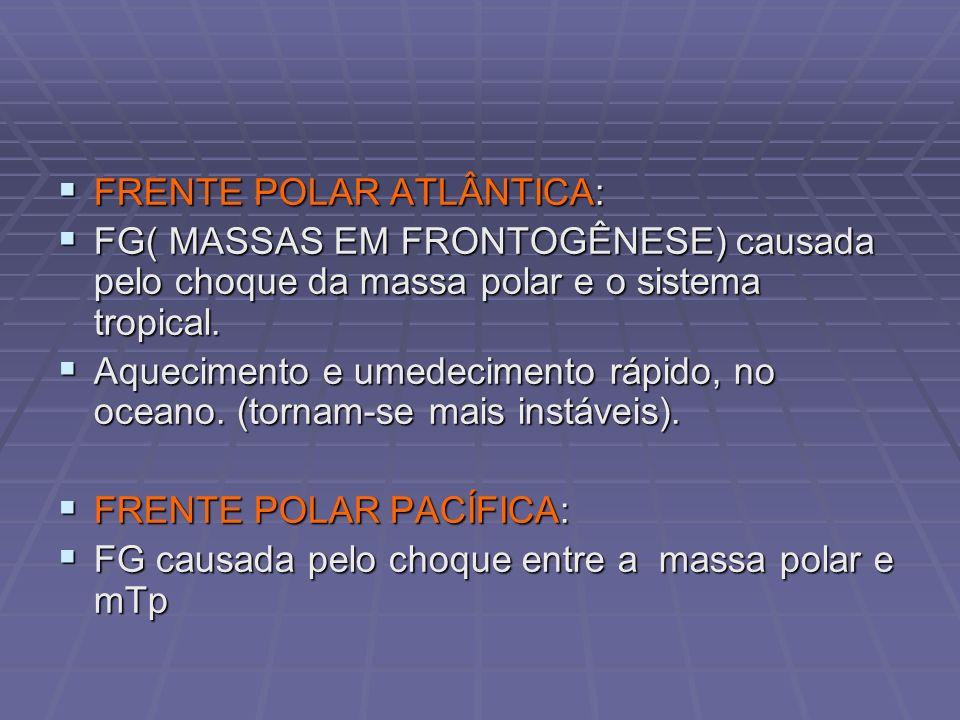 FRENTE POLAR ATLÂNTICA: