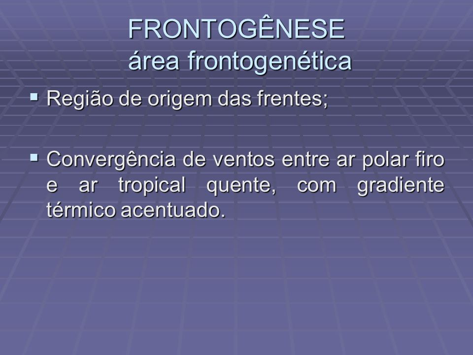 FRONTOGÊNESE área frontogenética