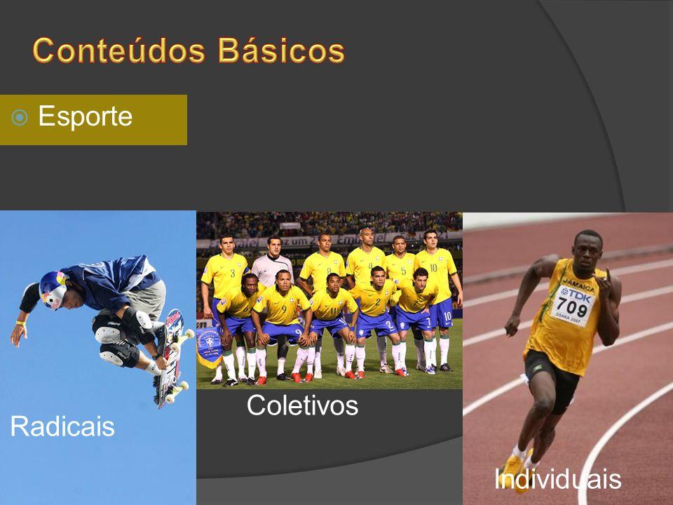 Conteúdos Básicos Esporte Coletivos Radicais Individuais