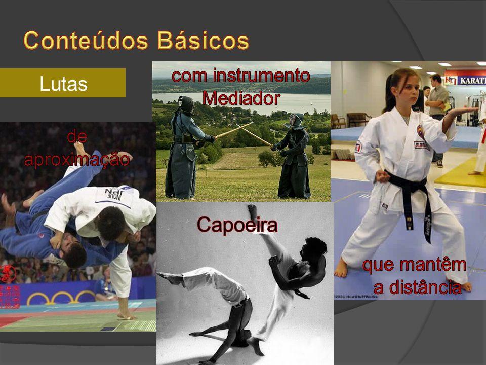 Conteúdos Básicos Lutas Capoeira com instrumento Mediador de