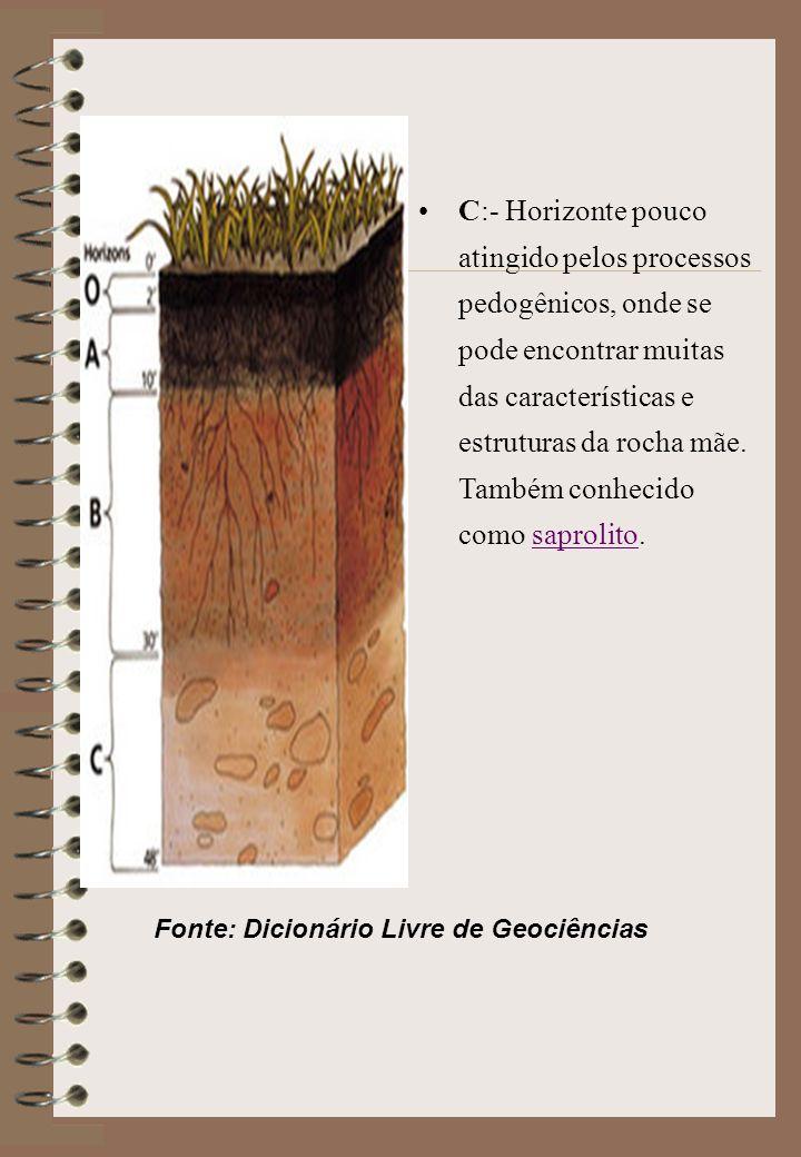 Fonte: Dicionário Livre de Geociências