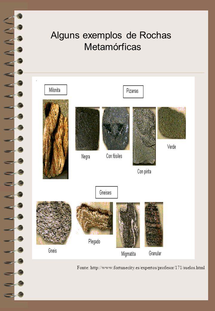 Alguns exemplos de Rochas