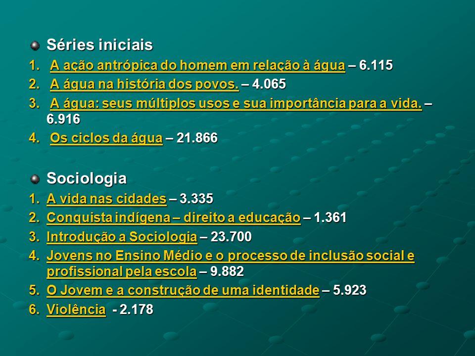 Séries iniciais Sociologia