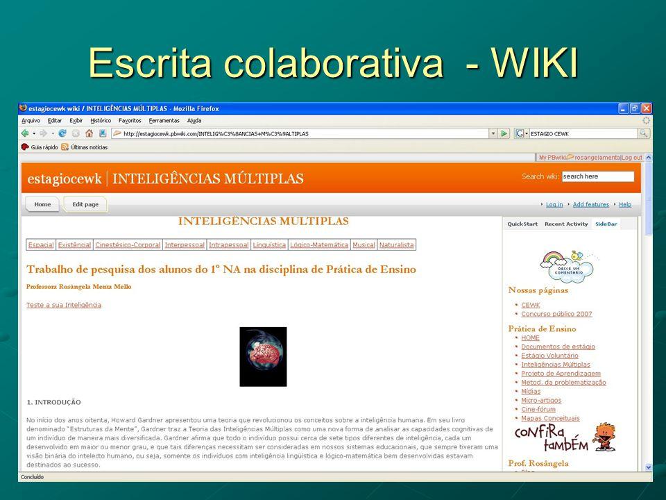 Escrita colaborativa - WIKI