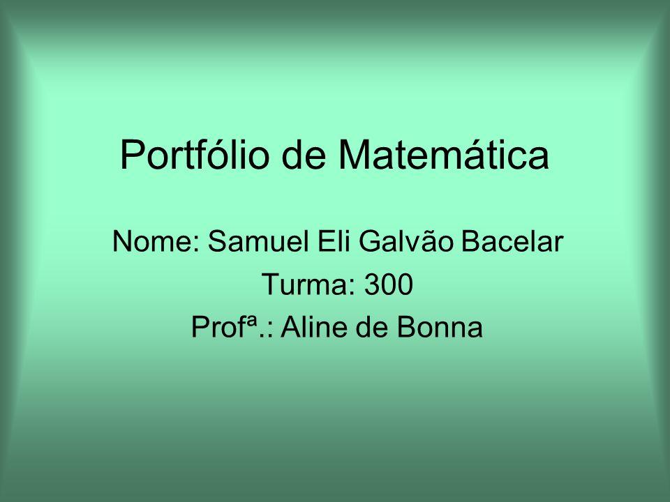 Portfólio de Matemática
