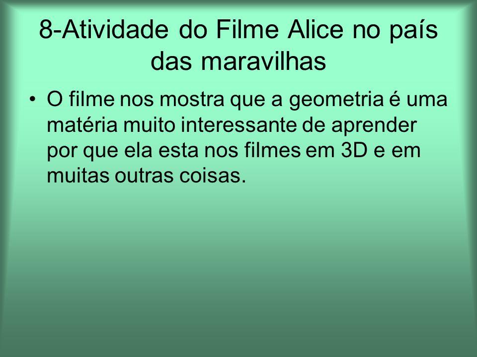 8-Atividade do Filme Alice no país das maravilhas