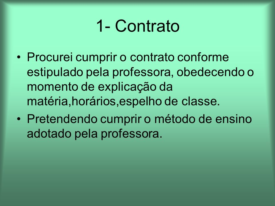 1- Contrato