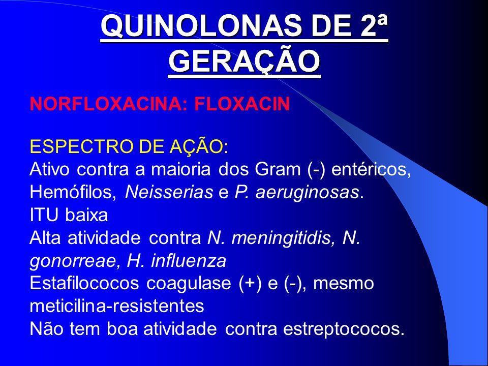 QUINOLONAS DE 2ª GERAÇÃO