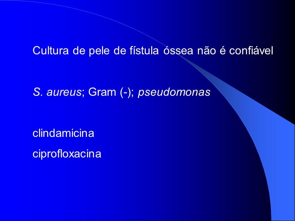 Cultura de pele de fístula óssea não é confiável