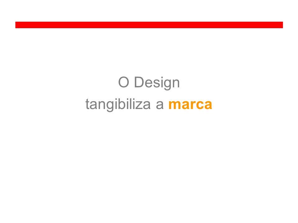 O Design tangibiliza a marca