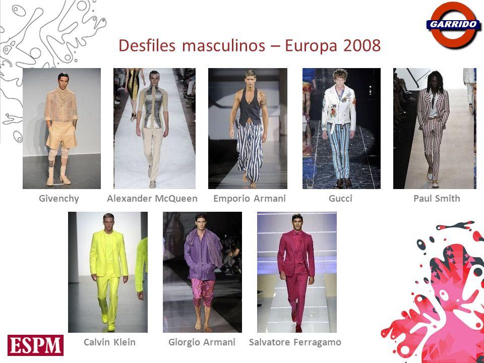 Desfiles masculinos – Europa 2008