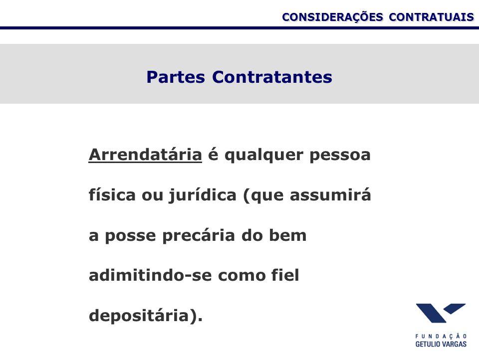CONSIDERAÇÕES CONTRATUAIS