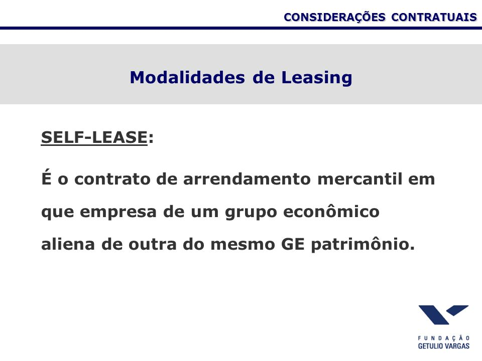 Modalidades de Leasing