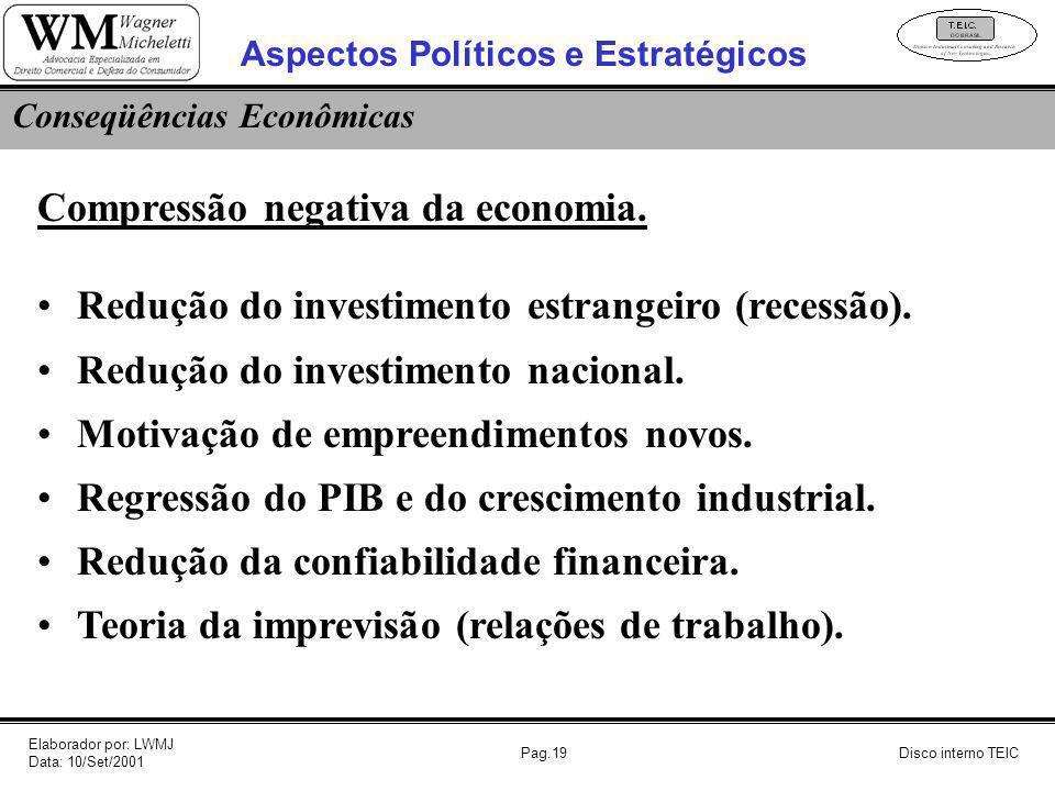Aspectos Políticos e Estratégicos Conseqüências Econômicas