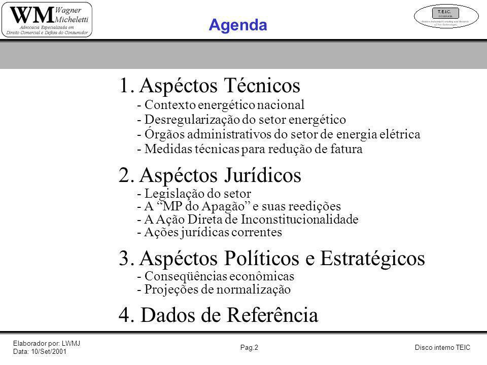 3. Aspéctos Políticos e Estratégicos 4. Dados de Referência