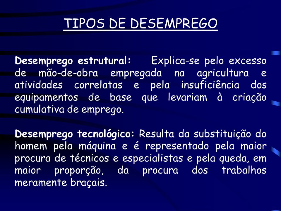 TIPOS DE DESEMPREGO