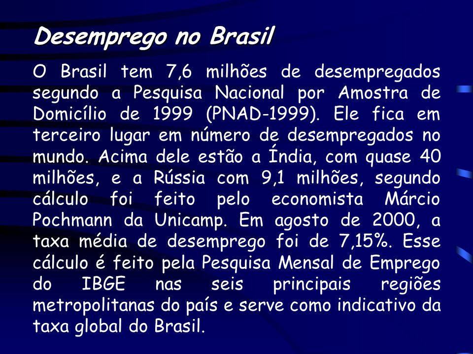 Desemprego no Brasil