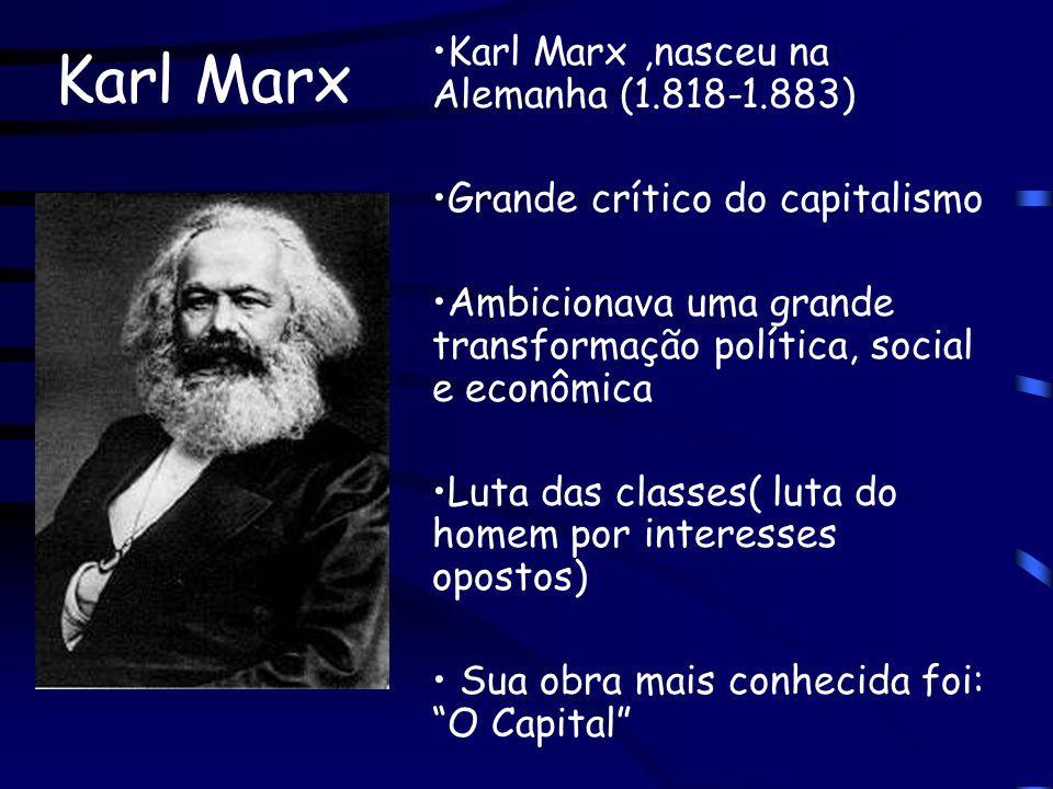 Karl Marx Karl Marx ,nasceu na Alemanha (1.818-1.883)