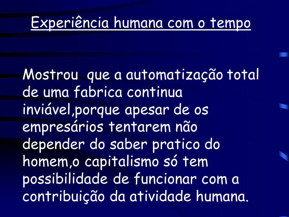 Experiência humana com o tempo
