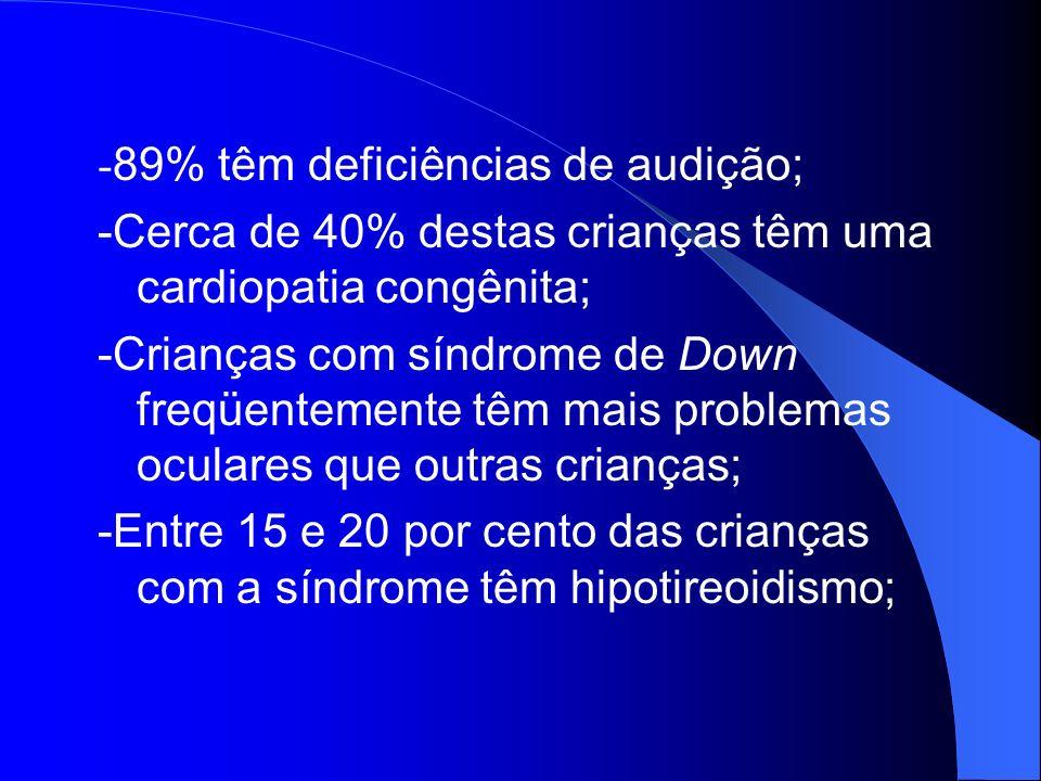 -89% têm deficiências de audição;