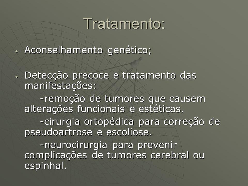 Tratamento: Aconselhamento genético;